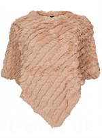 NO. 1 BY OX - Stor Kanin Poncho med Similisten, Nude