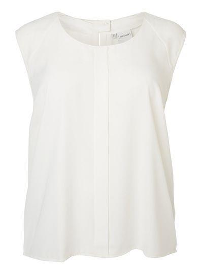 hvid skjortebluse uden ærmer